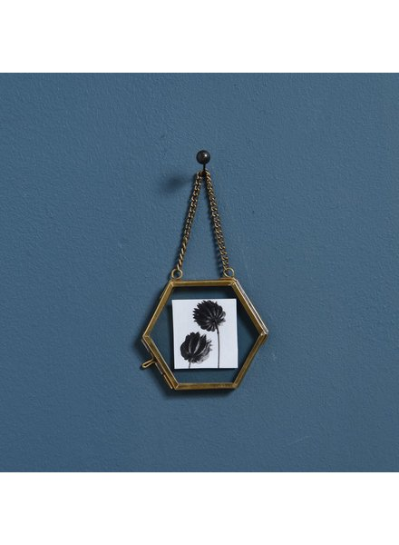 HomArt Monroe Ornament Frame - Hexagon - Brass