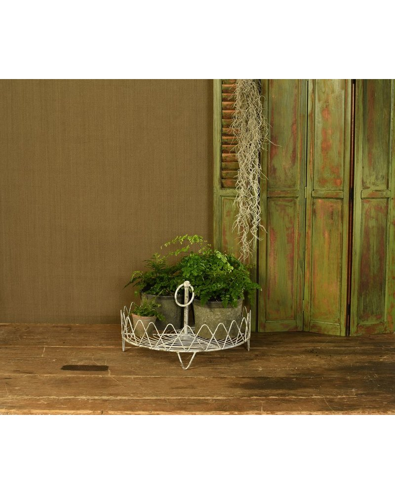 HomArt Veranda One Tier Wire Stand - Antique White