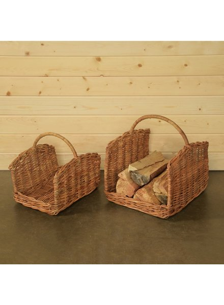 HomArt Monterey Rattan Log Basket - Set of 2 - Rustique Honey