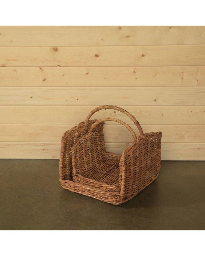 HomArt Monterey Rattan Log Basket - Set of 2 - Rustique Honey