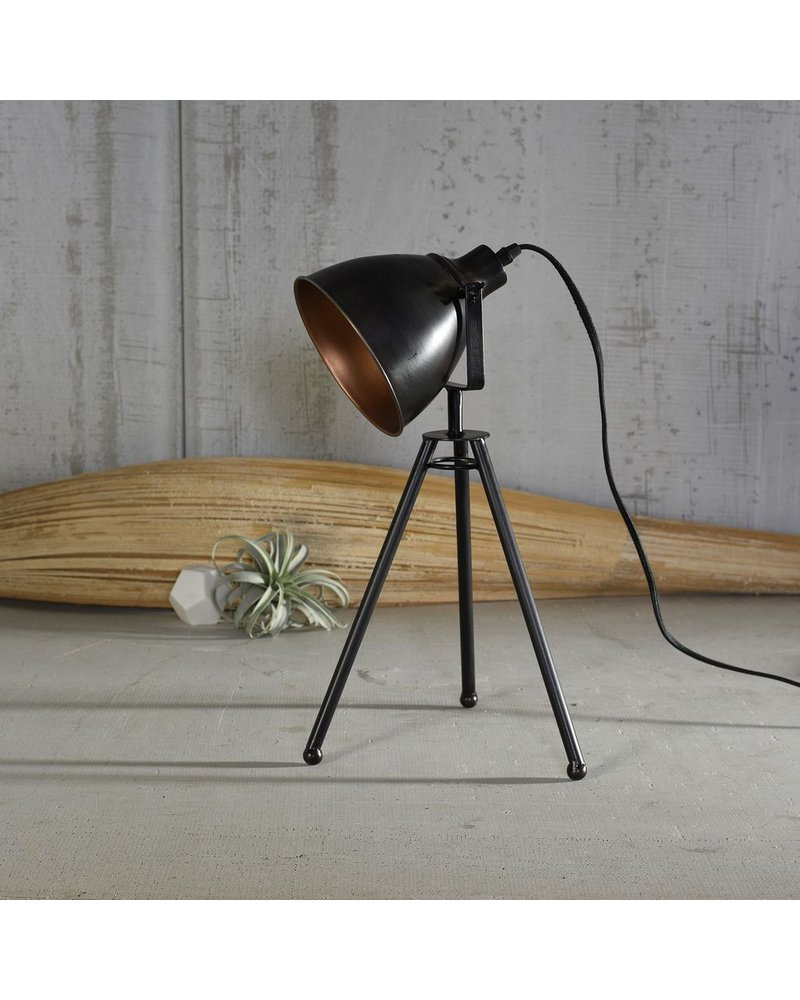 HomArt Directors Metal Table Lamp - Black & Brass