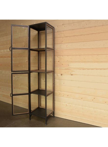 HomArt Miles Metal and Wood Cabinet