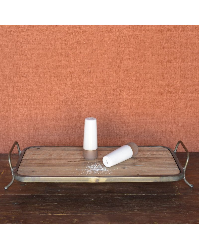 HomArt Maya Salt & Pepper Shakers - Partial Glaze