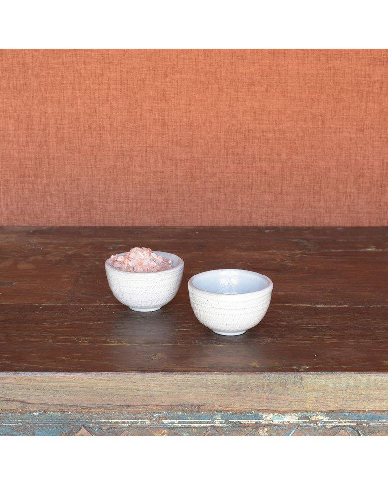 HomArt White Roth Pinch Bowl - Set of 2