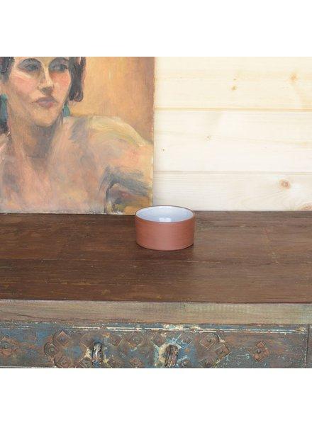 HomArt Corbet Bowl - Sm - Red Clay, White Glaze