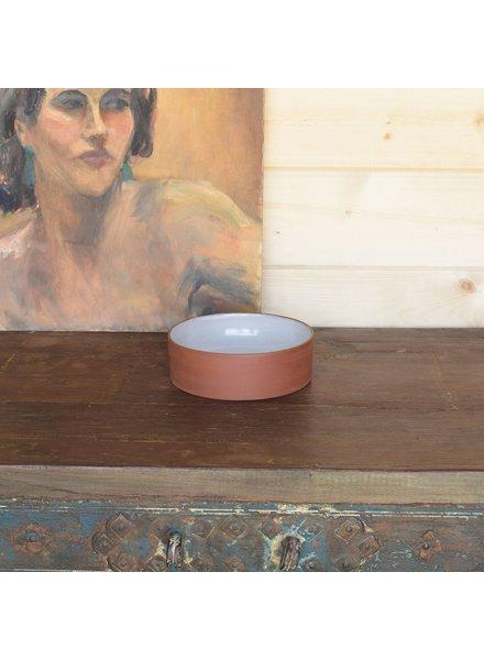HomArt Corbet Bowl - Med - Red Clay, White Glaze