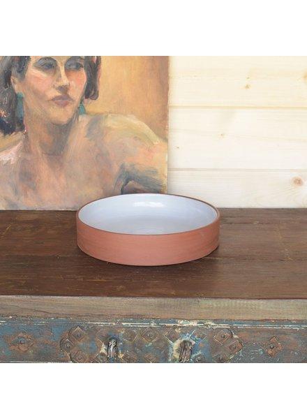 HomArt Corbet Bowl - Lrg - Red Clay, White Glaze
