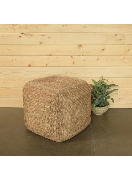 HomArt Santa Cruz Hemp Pouf - Square - Natural