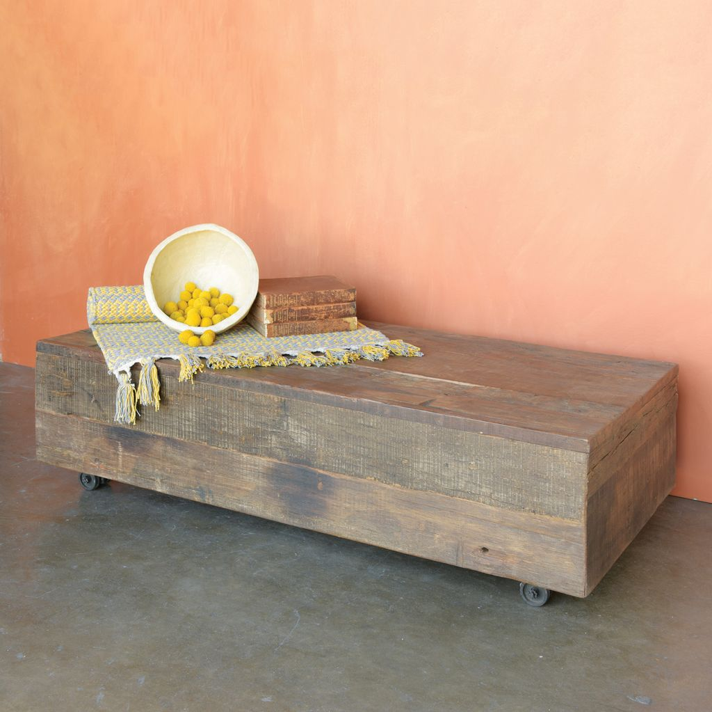 - HomArt Arcadia Rolling Plank Coffee Table - AREOhome