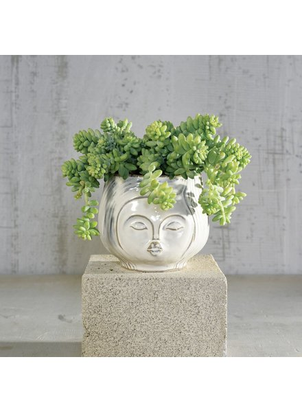 HomArt Pucker Up Ceramic Vase - Fancy White