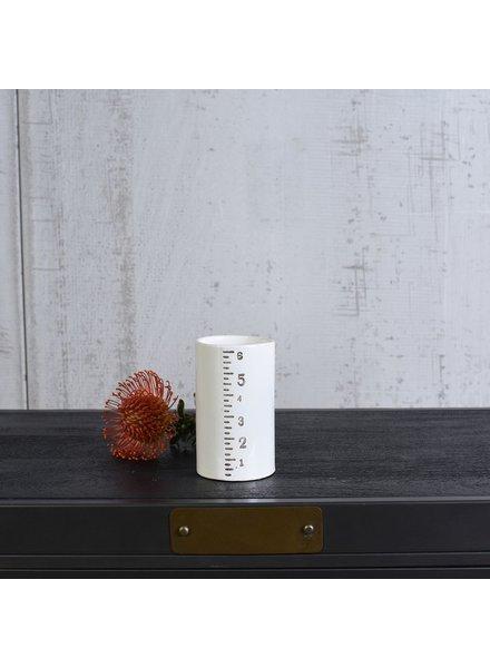 "HomArt Ruled Cylinders Vase - 6"""