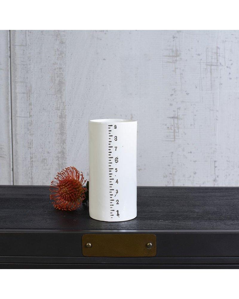"HomArt Ruled Cylinders Vase - 9"""