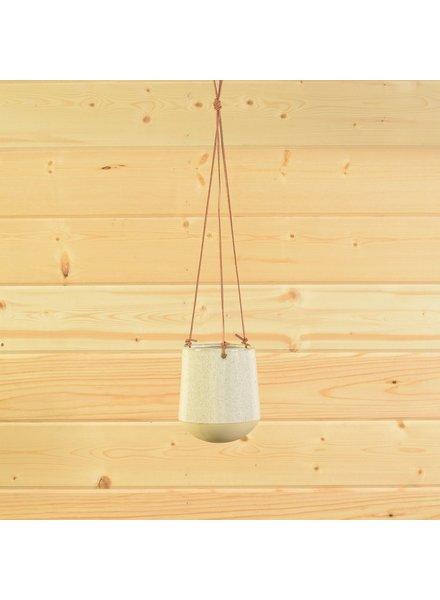 HomArt Logan Ceramic Vase - Sm - Flecked White