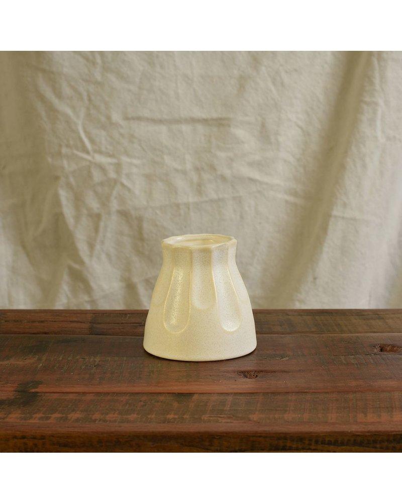 HomArt Matte White Margot Vase - Scallop - Set of 2