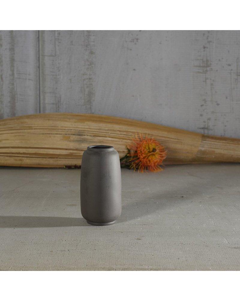 HomArt Odin Ceramic Vase - Sm - Bisque Grey