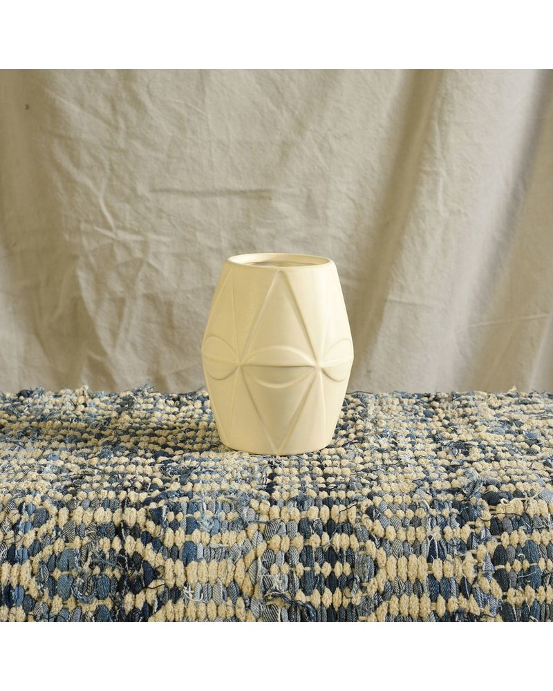 HomArt Apex Ceramic Vase - Sm - Matte White