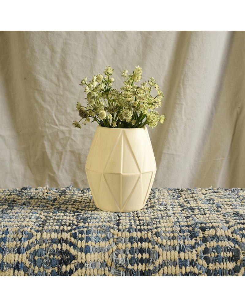 HomArt Apex Ceramic Vase - Lrg - Matte White