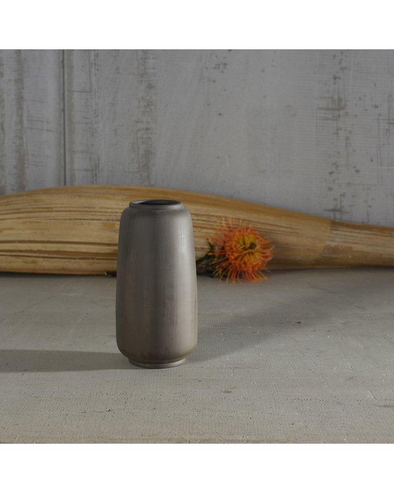 HomArt Odin Ceramic Vase - Lrg - Bisque Grey