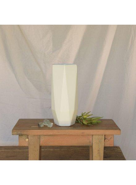HomArt Lund Ceramic Vase - Lrg - Matte White
