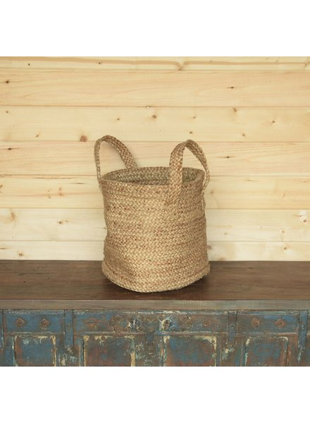 HomArt Santa Cruz Braided Hemp Basket - Natural
