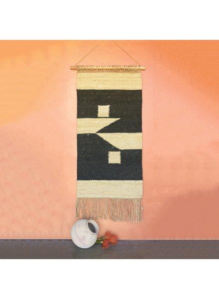 HomArt Austin Hemp Wall Hanging - Natural / Black