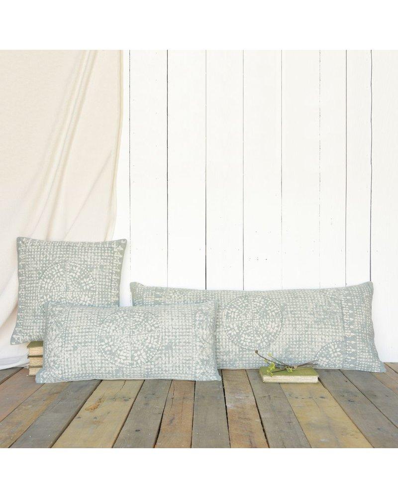 HomArt Wyatt Pillow 16x16 - Sky Grey