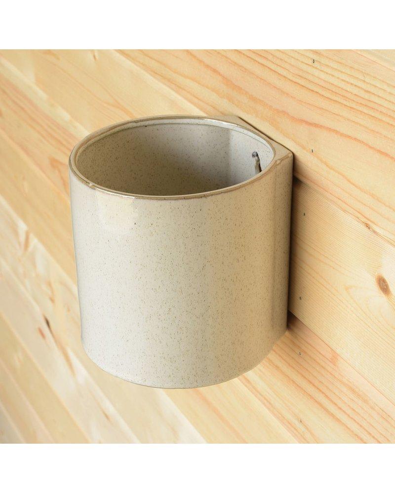 HomArt Logan Wall Vase - Lrg - Flecked White
