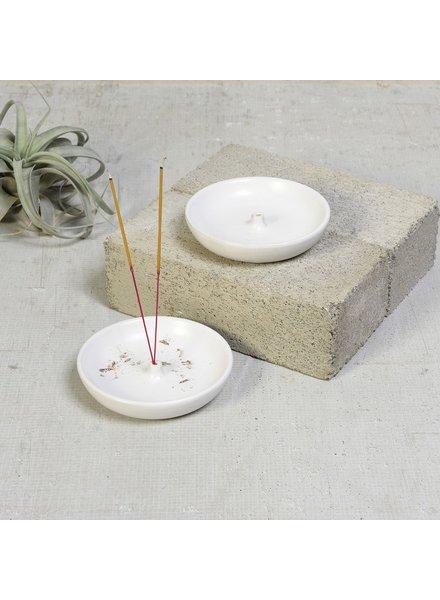 HomArt Luna Incense Holder - Round - Matte White