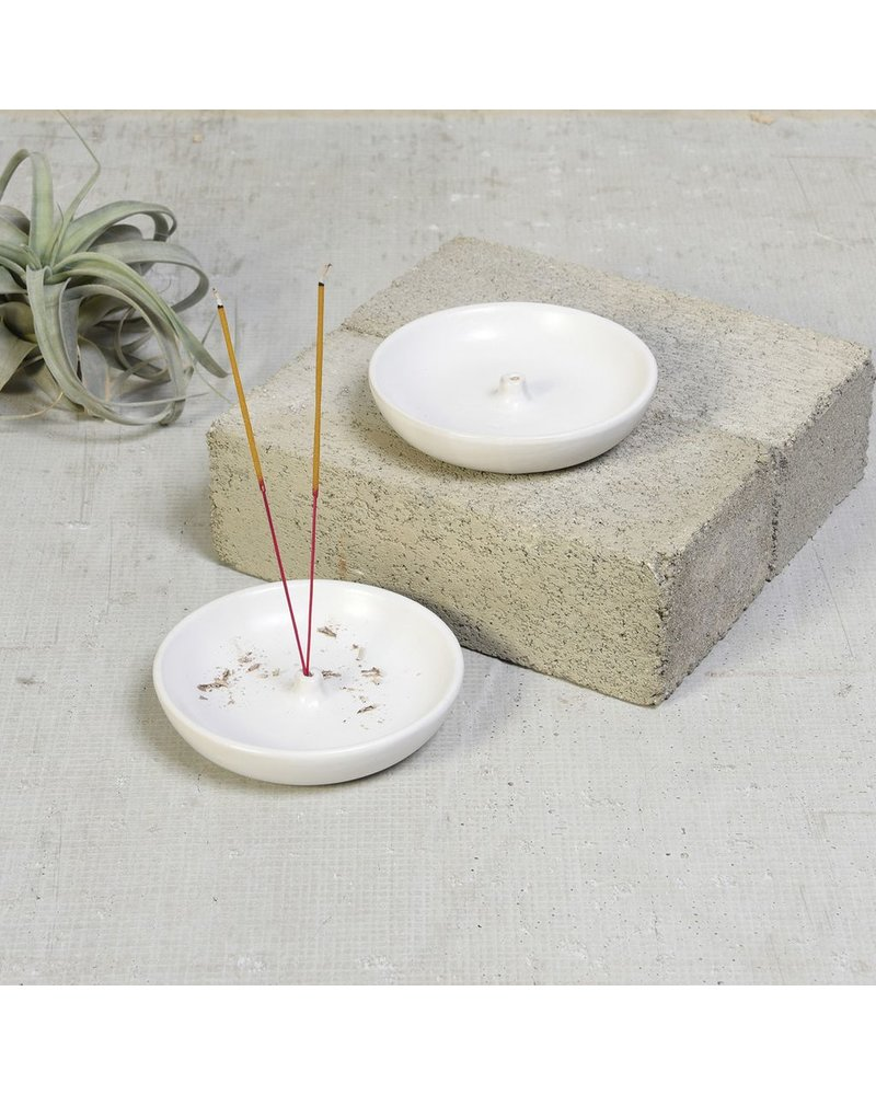 HomArt Luna Incense Holder - Round - Matte White