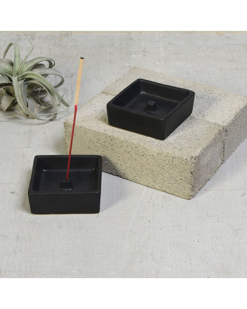 HomArt Luna Incense Holder - Square - Matte Black