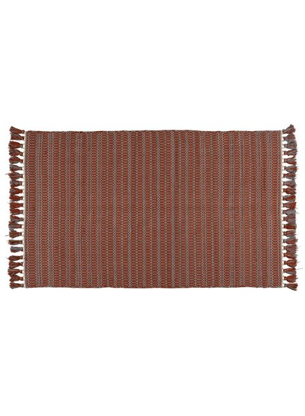 HomArt Santa Ynez Rug 4x6 - Grey / Orange