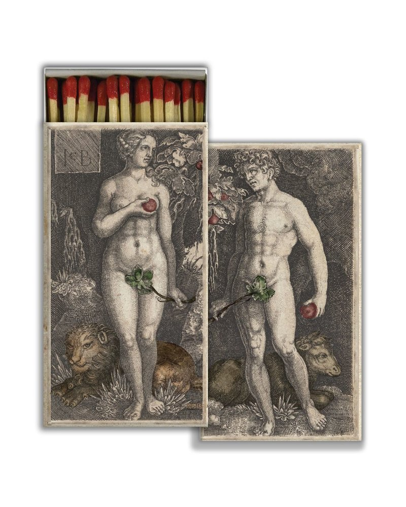 HomArt Matches - Adam & Eve - Red - Set of 3