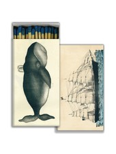 HomArt Matches - Whale & Clipper Ship - Blue - Set of 3