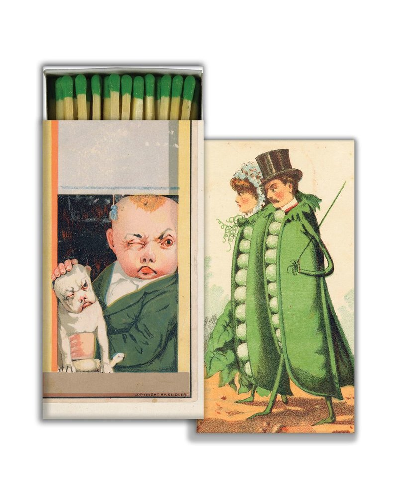 HomArt Matches - You Look Like One & Peas In A Pod - Green - Set of 3