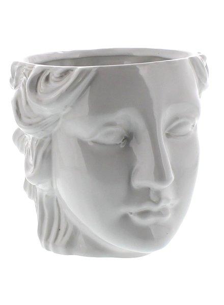 HomArt Juno Ceramic Head Cachepot - White