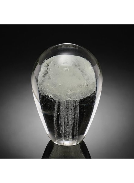 Art Glass Jellyfish - White