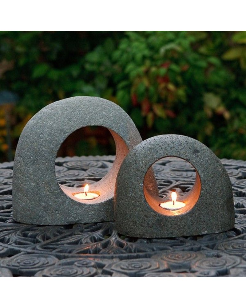 Garden Age Supply Natural Rock Tea Light Holder Large