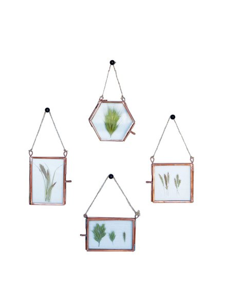 HomArt Cornell Ornament Frames - Set of 4 - 1 Each Copper