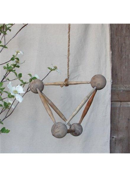 HomArt Molecular Figure - Triangle, Wood