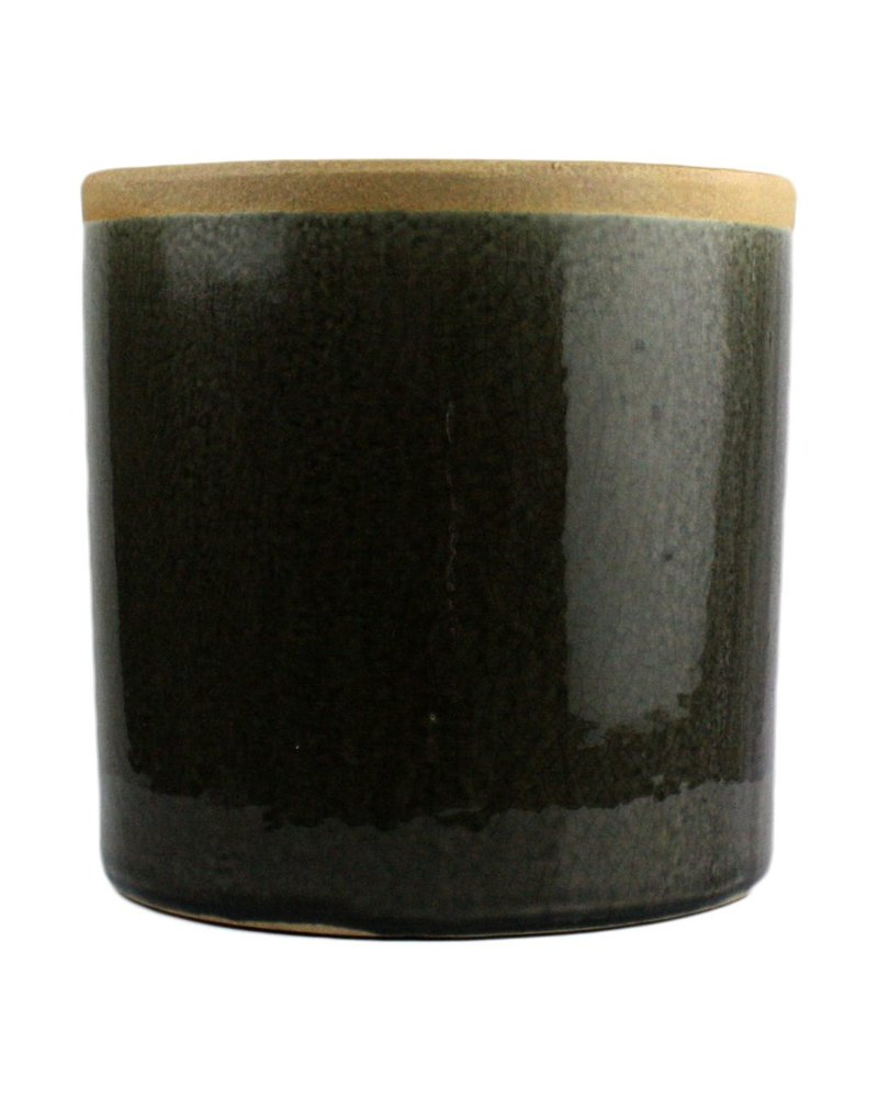 HomArt Mulberry Ceramic Cylinder Vase - Sm - Espresso