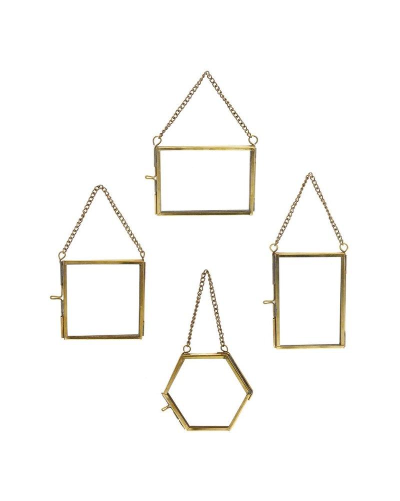 HomArt Monroe Ornament Frames Set of 12 - 3 Each - Brass