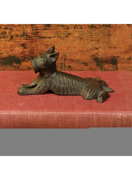 HomArt Terrier Door Wedge, Cast Iron - Antique Brown