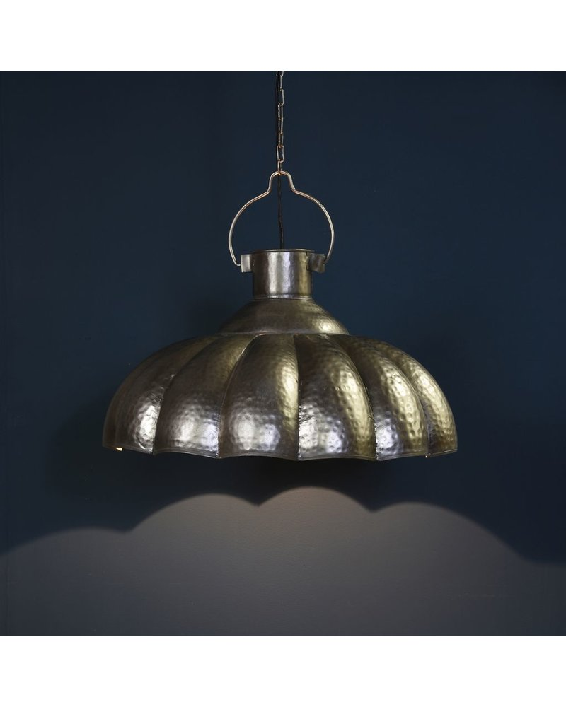 HomArt Farrah Scalloped Pendant Lamp - Antique Nickel