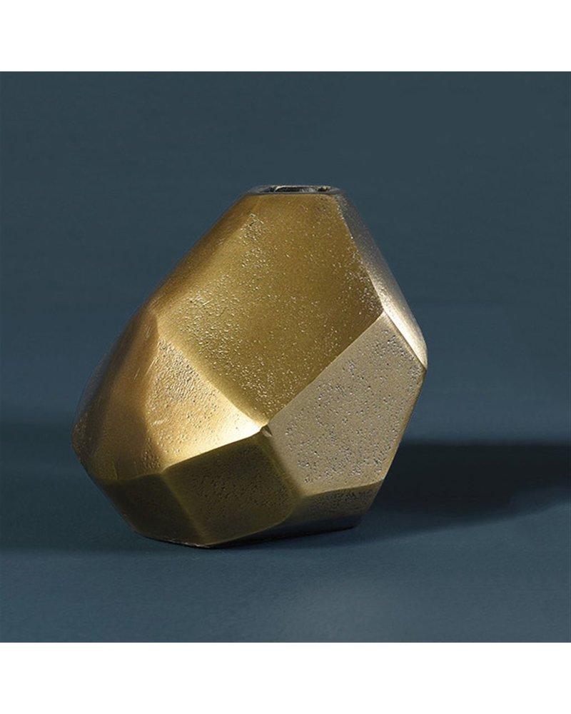 HomArt Liv Faceted Vase - Brass