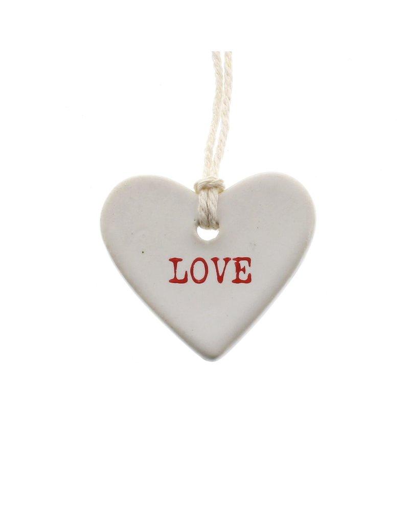 HomArt Love Ceramic Tag - Set of 4