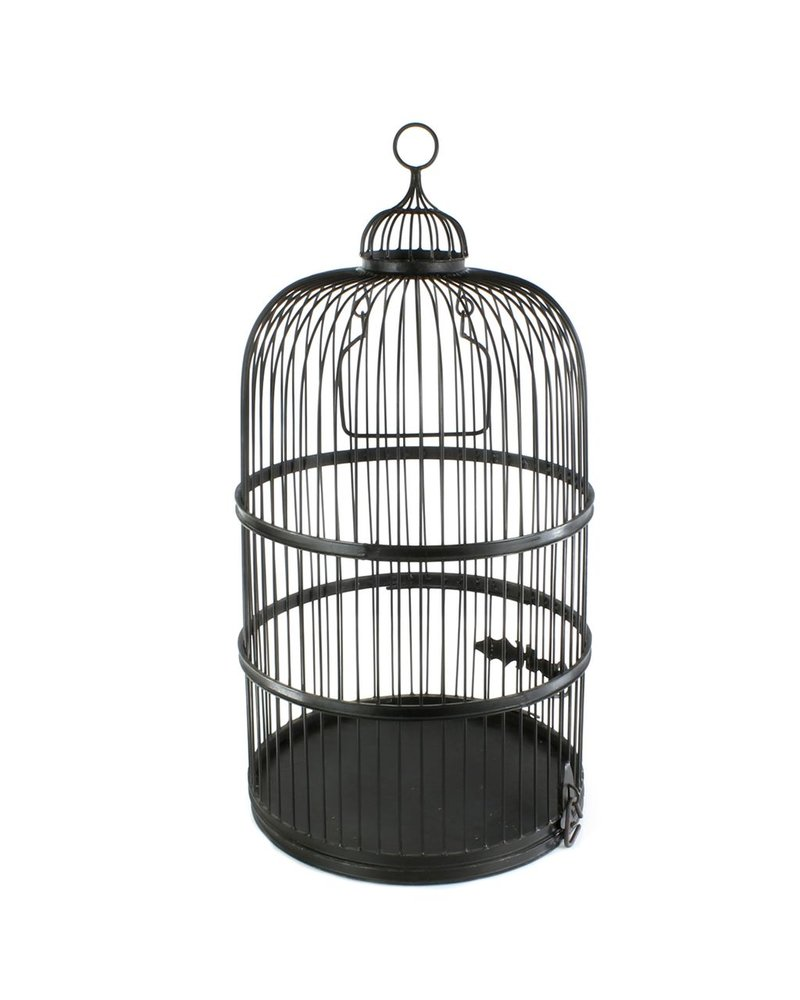 HomArt Grand Aviary Iron Bird Cage - Black Waxed