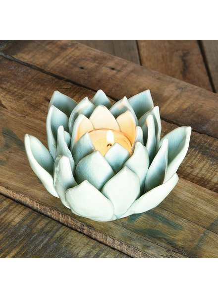 HomArt Succulent Tealight Holder - Pale Blue