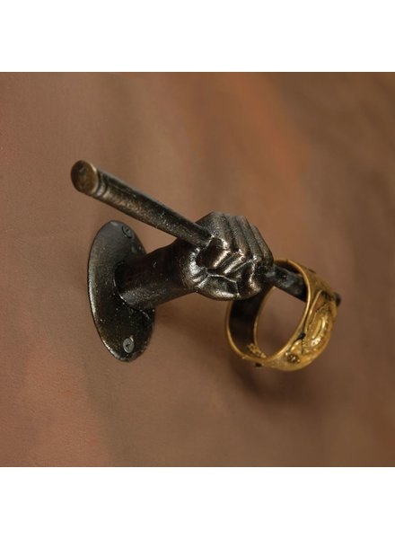 HomArt Hand Wall Hook - Cast Iron Bronze
