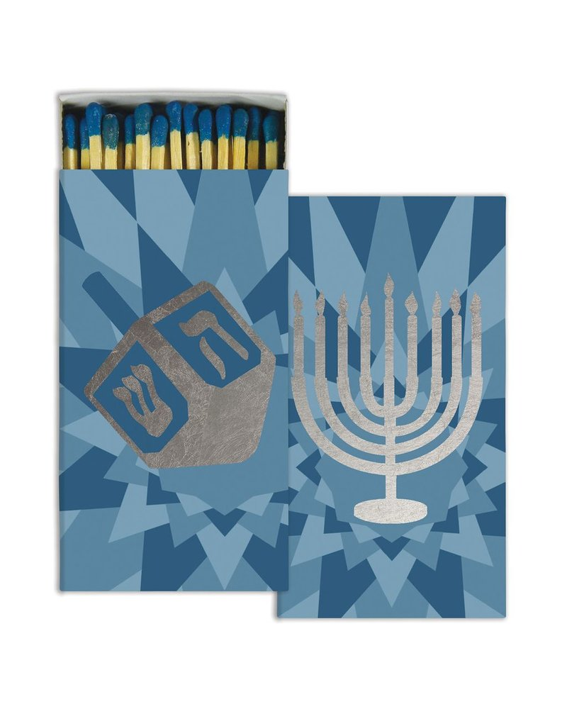 HomArt Matches - Hanukkah - Silver Foil  - Set of 3