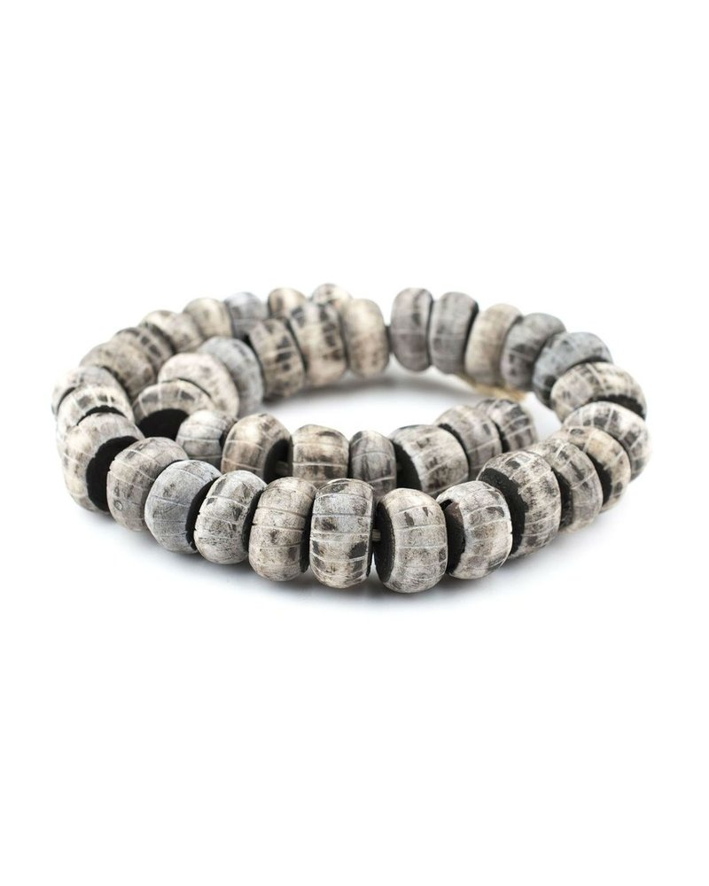 Kilim Company Carved Grey Bone Beads